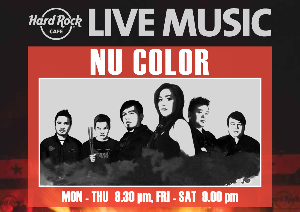 NU COLOR LIVE! EVERY NIGHT @ HARD ROCK CAFE PATTAYA