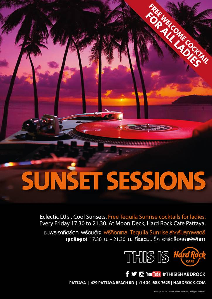 SUNSET SESSIONS @ HARD ROCK CAFE (Every Friday)