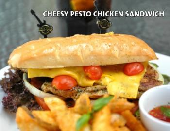 CHEESY PESTO CHICKEN SANDWICH