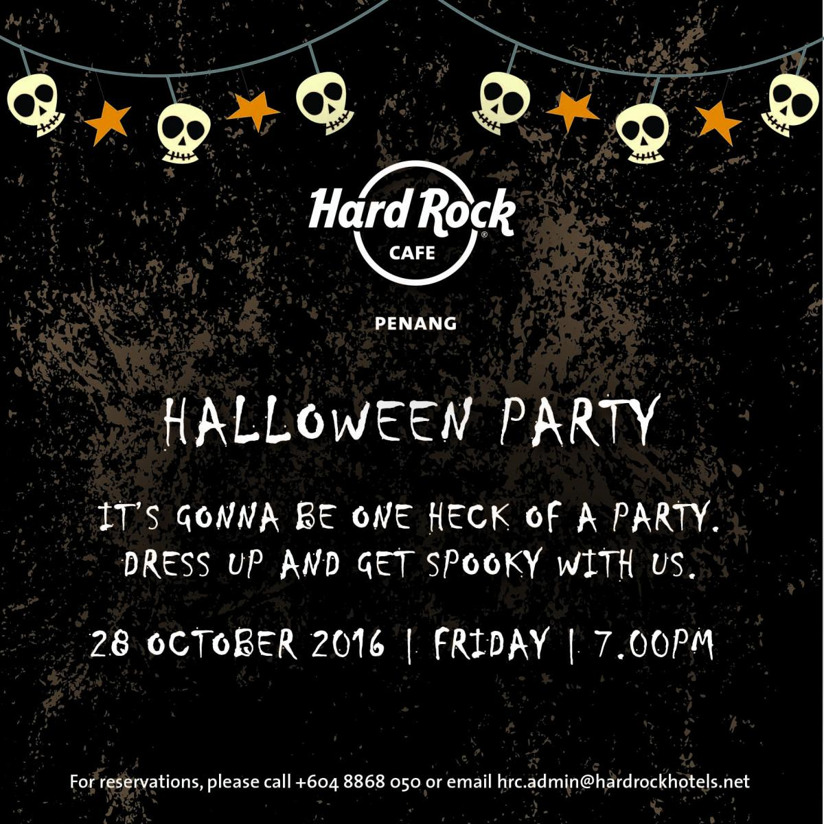Hard Rock Hotel Penang HALLOWEEN PARTY 2016