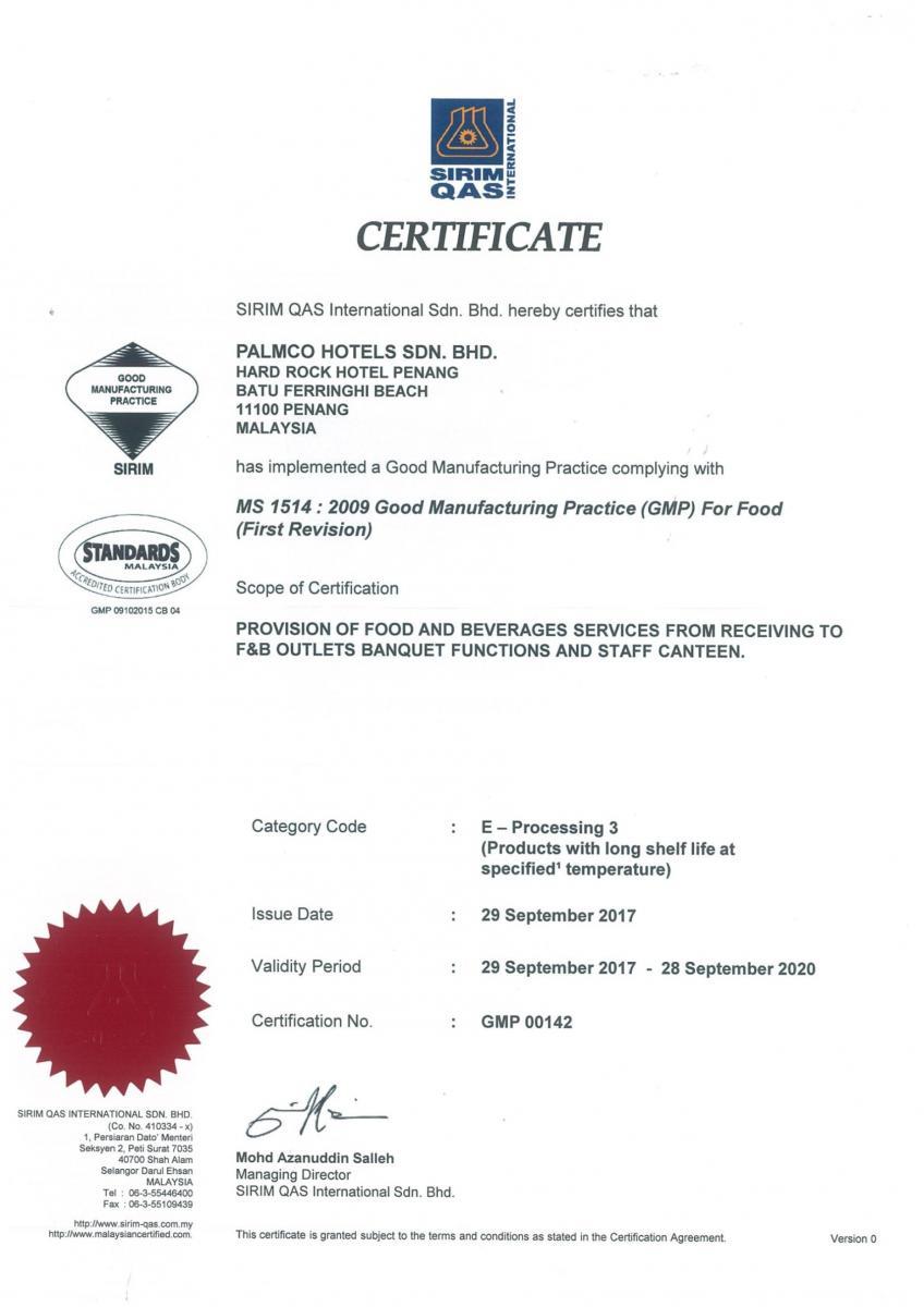 Good Manufacturing Practice Gmp Certificate Gmp Certificate
