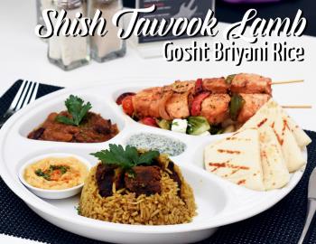 Chicken Shish Tawook Lamb Gosht Briyani Rice