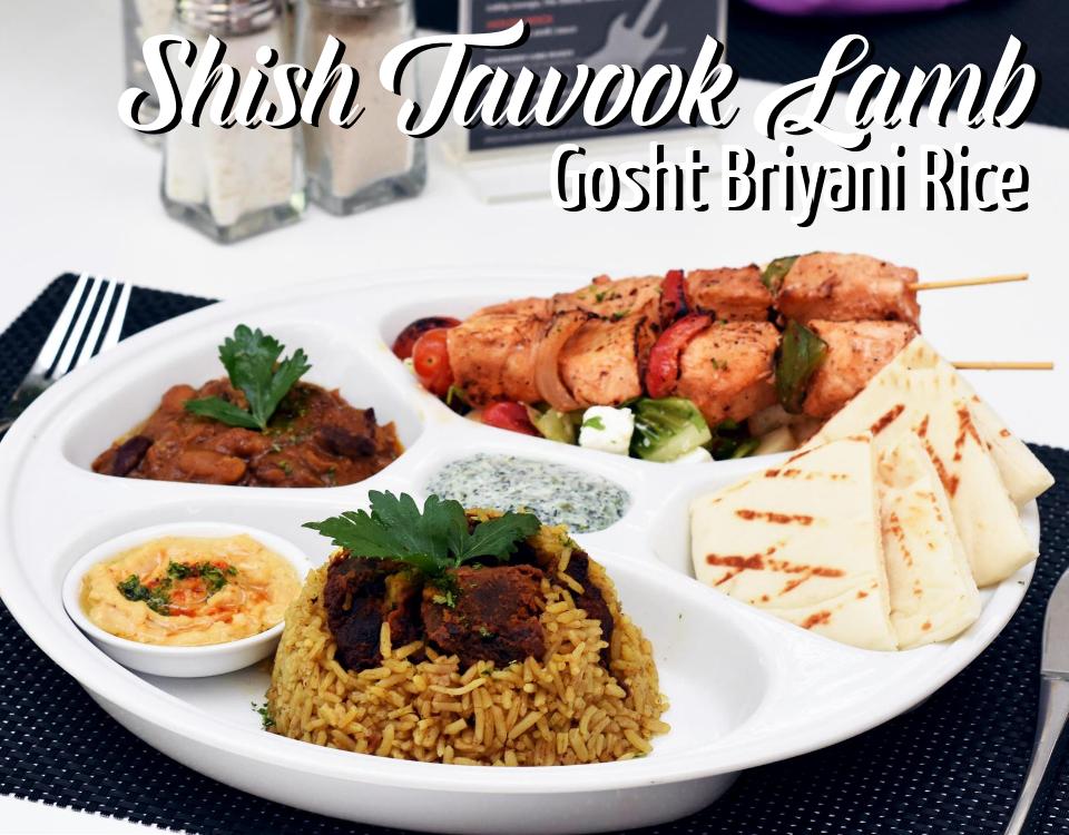 Shish Tawook Lamb Gosht Briyani Rice