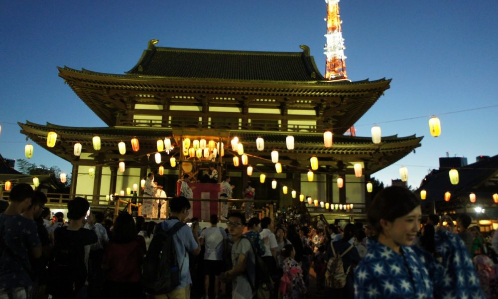 summer festival at zojoji temple