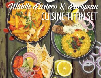 Middle Eastern & European Cuisine Tiffin Set