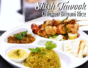 Chicken Shish Tawook With Briyani Rice