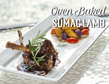 Oven Baked Sumac Lamb Rack