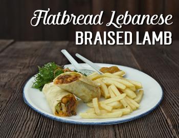 Flatbread Lebanese Braised Lamb